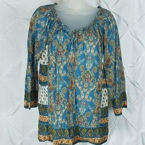 Lucky Brand Boho peasant blouse